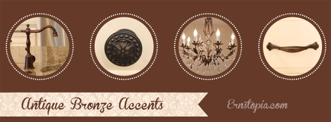Antique Bronze accents