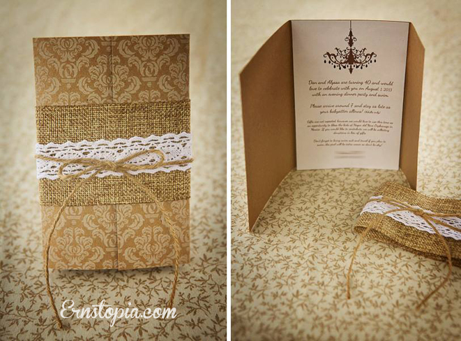 Rustic Elegance Invitation