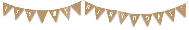 birthday pennant