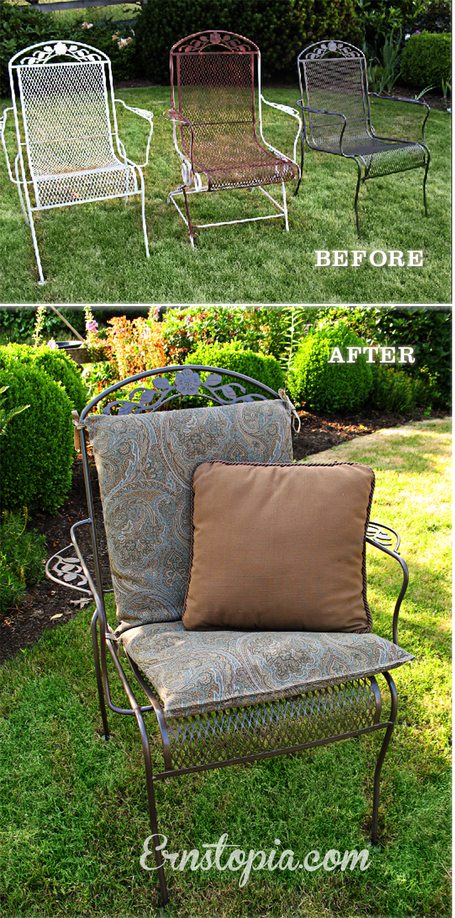 patio chair before and after