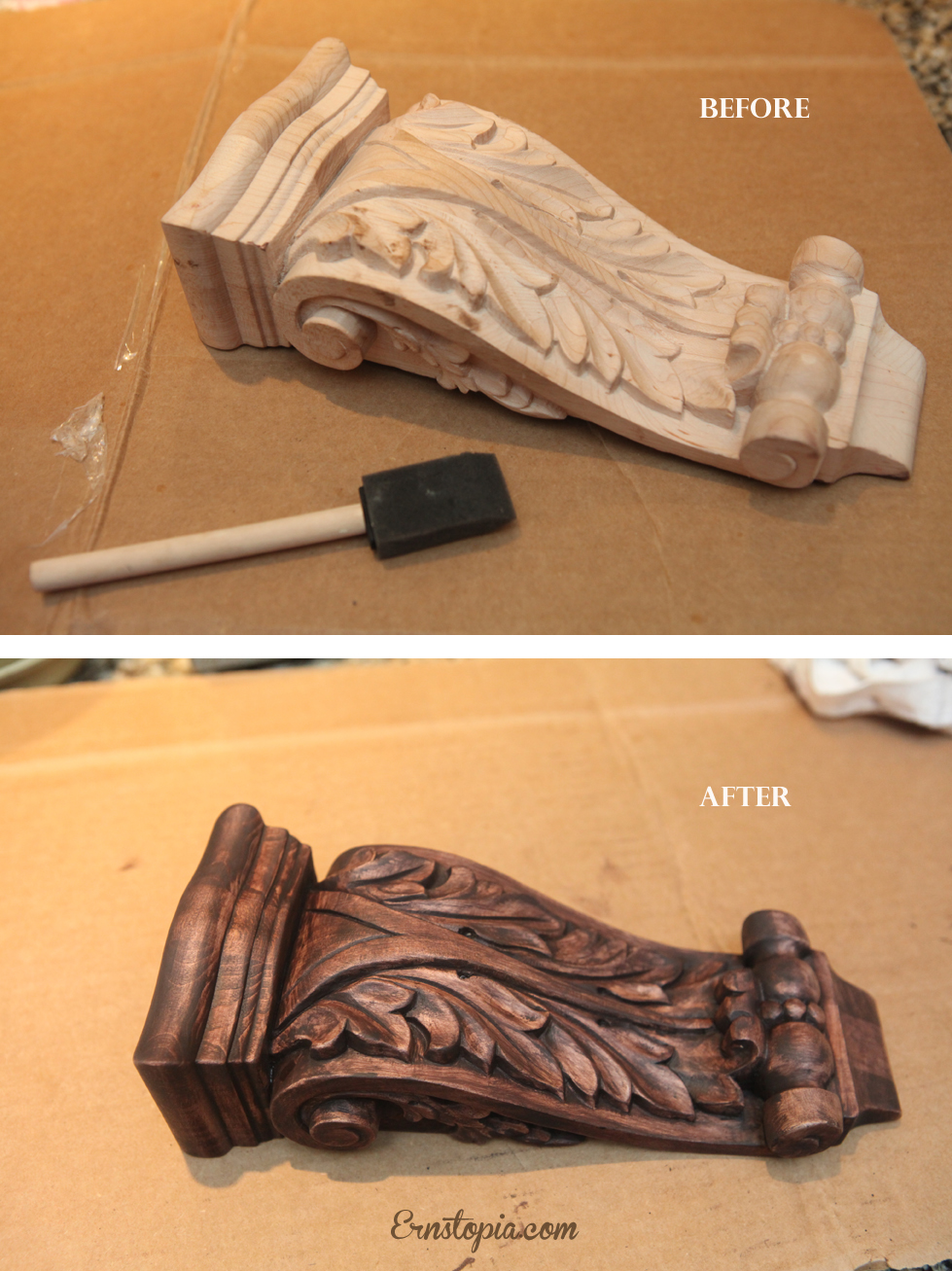 staining corbel-7625 Before-after