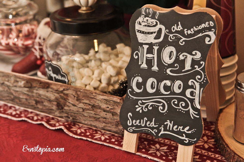 Warm up this winter with some hot chocolate from a hot chocolate bar.
