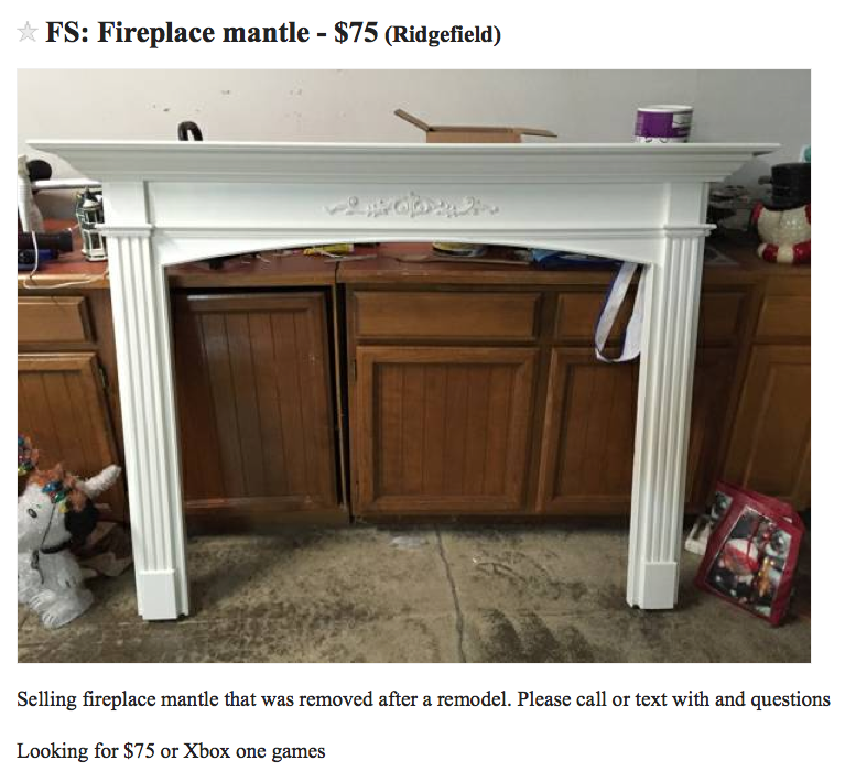 RE-purposed fireplace surround