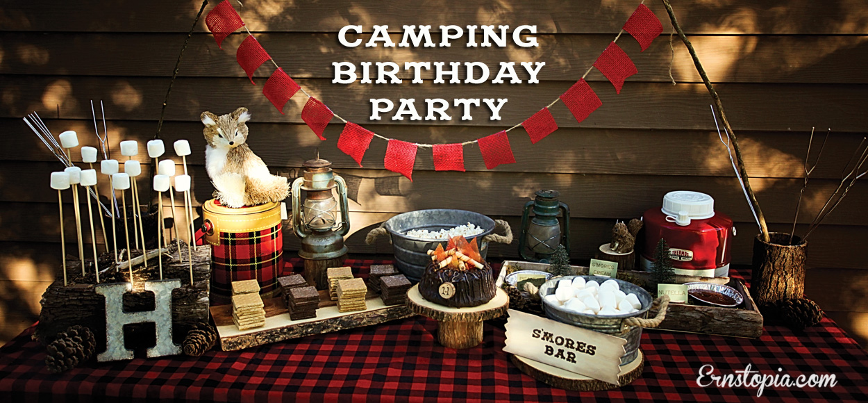 Camping Birthday Party Table