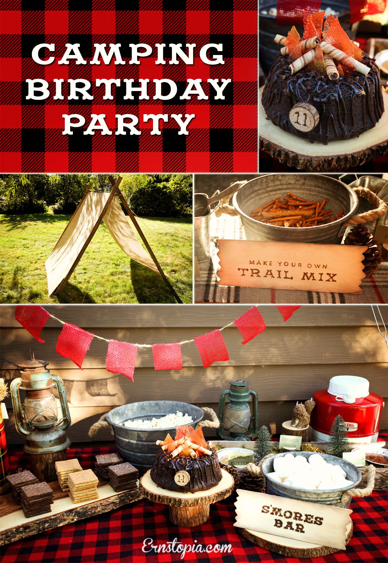 A camping party is the perfect theme for a summer birthday