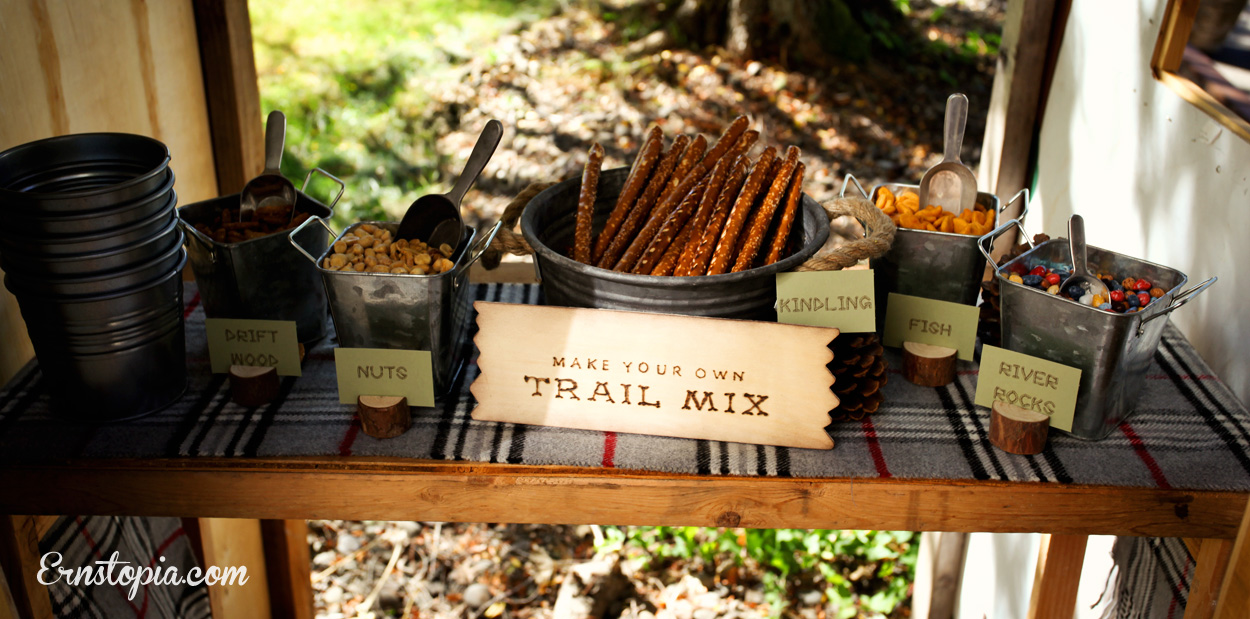 Make your own trail mix snack bar