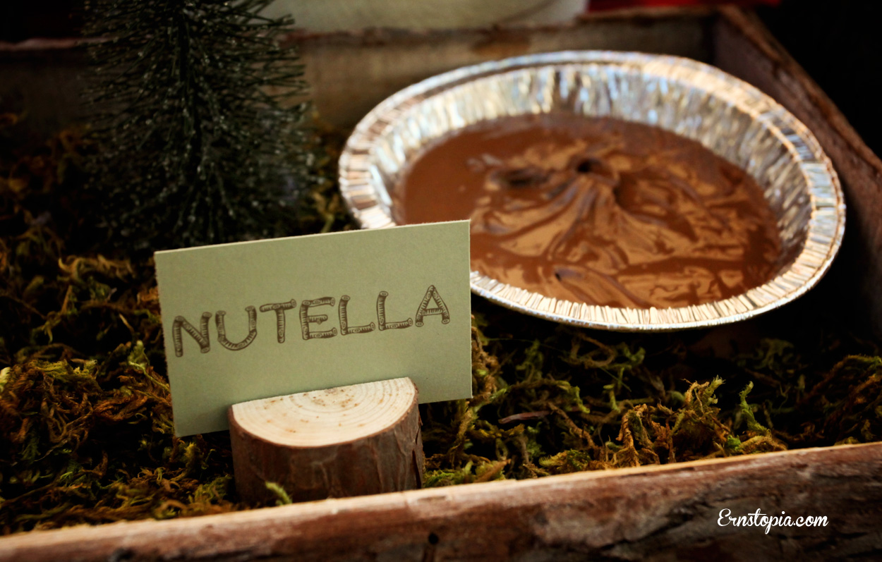Use Nutella for s'mores for a delicious twist on an old favorite!
