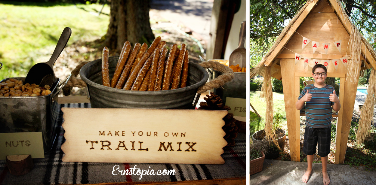 Trail mix snack bar