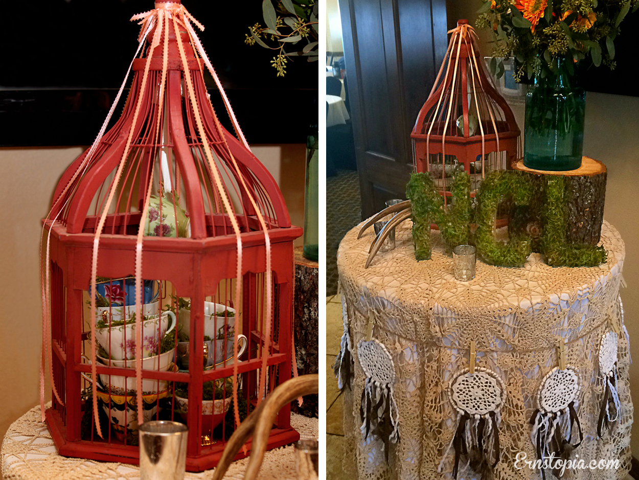 NCL entry table with birdcage