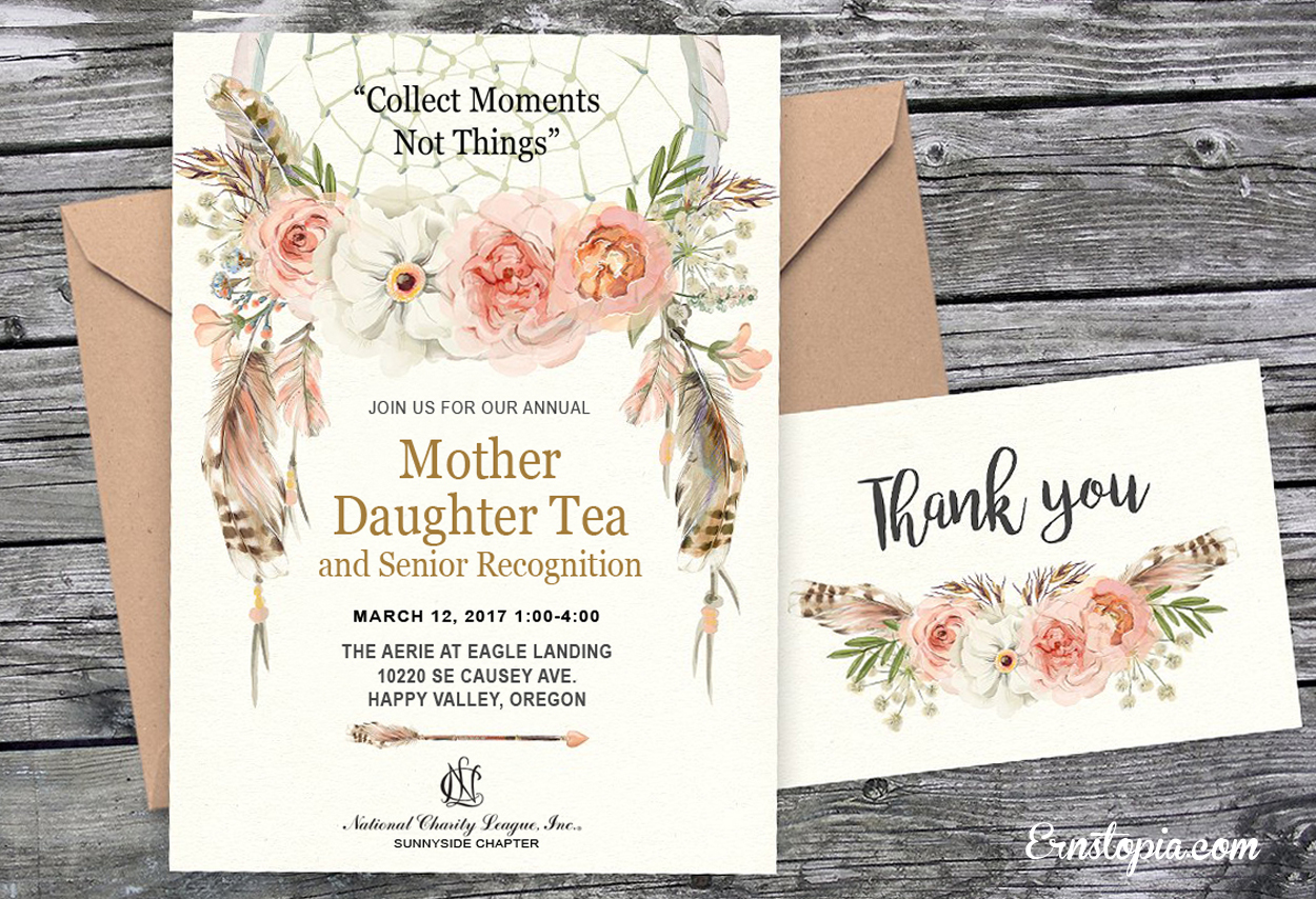 Boho Chic Tea Invitaion