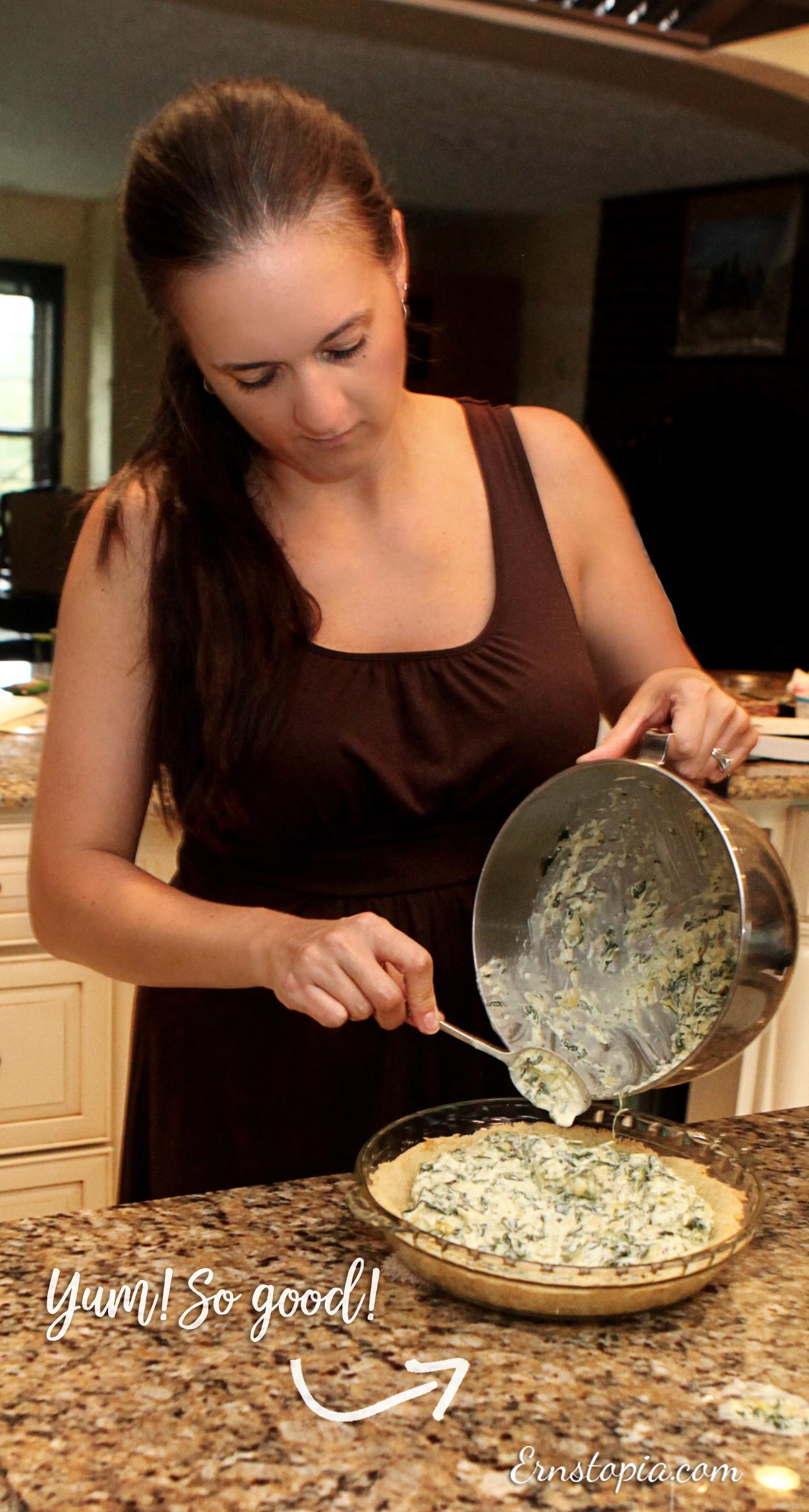 Gluten Free: artichoke parmesan quiche