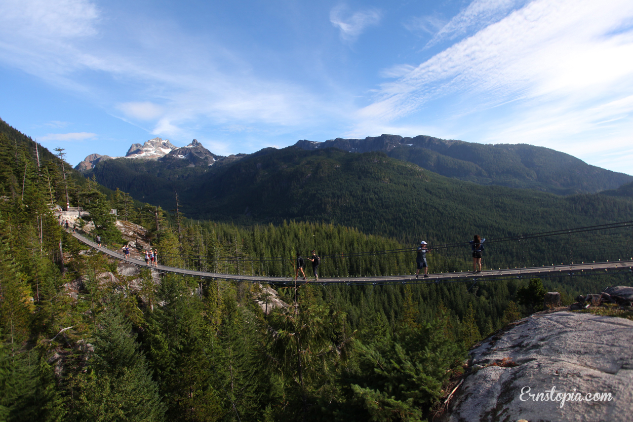Sky Pilot Suspension Bridge in British Columbia