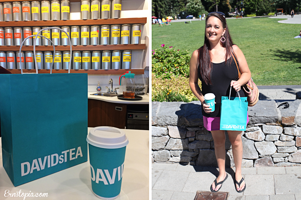 Shopping at Davids Tea